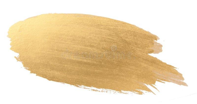 Guld- slaglängd för vattenfärgtexturborste royaltyfri bild