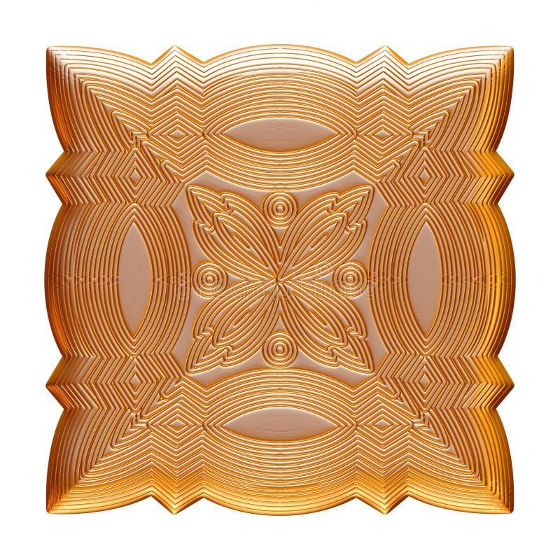 Guld- smyckenemblem som isoleras på vit vektor illustrationer