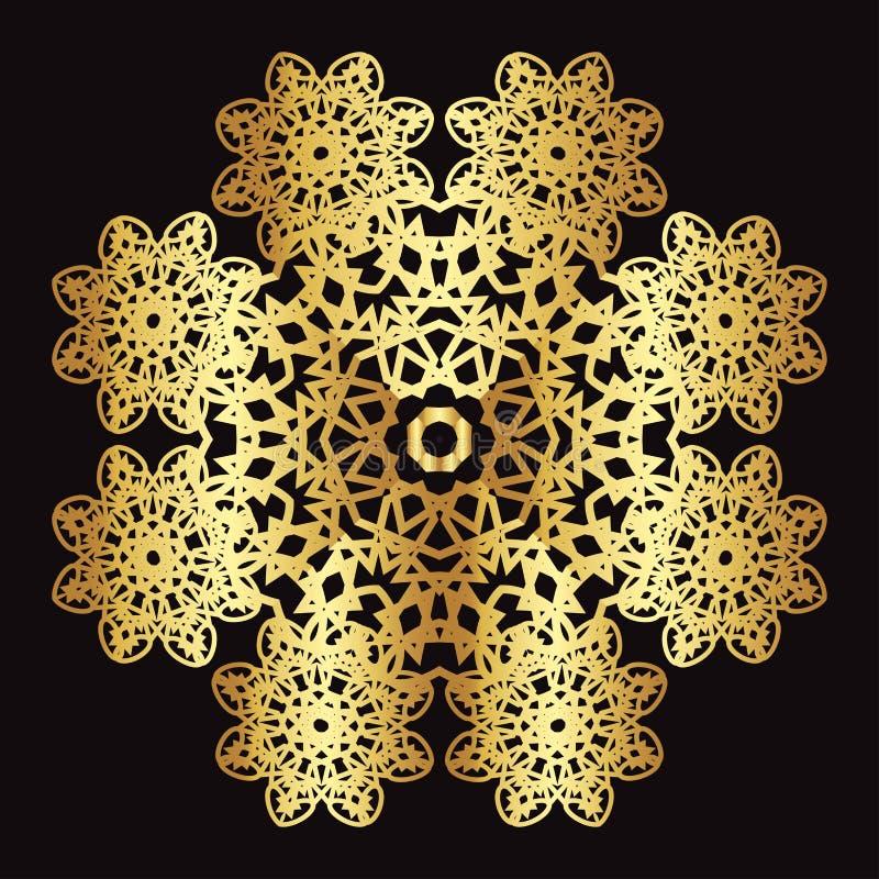 Guld snör åt modellen på en svart bakgrund vektor illustrationer