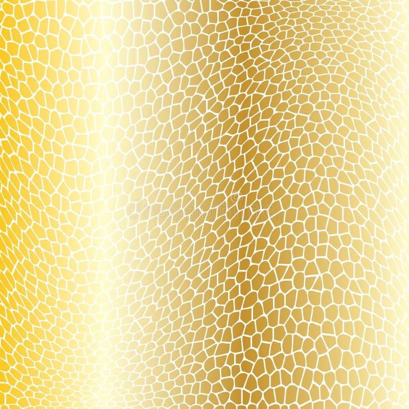 Guld snedvriden netto bakgrund vektor illustrationer