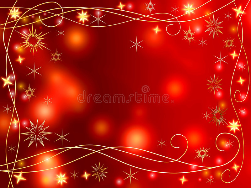 guld- snowflakesstjärnor för jul 3d stock illustrationer