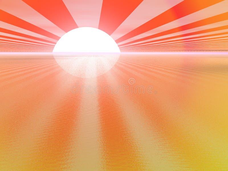 guld- solnedgång royaltyfri illustrationer