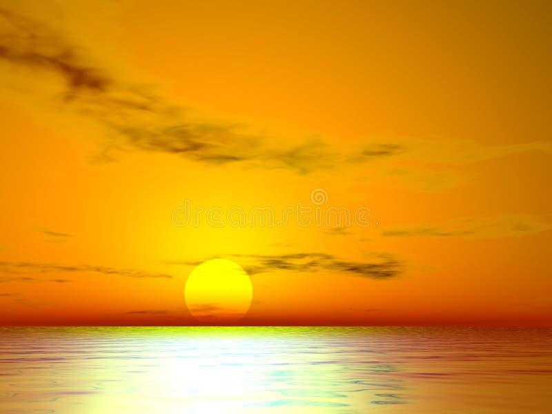 Download Guld- solnedgång för el stock illustrationer. Illustration av remolding - 281400