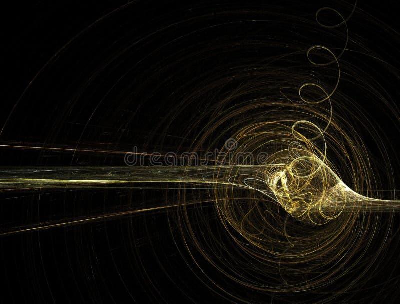 guld- spiral för fractal royaltyfri illustrationer