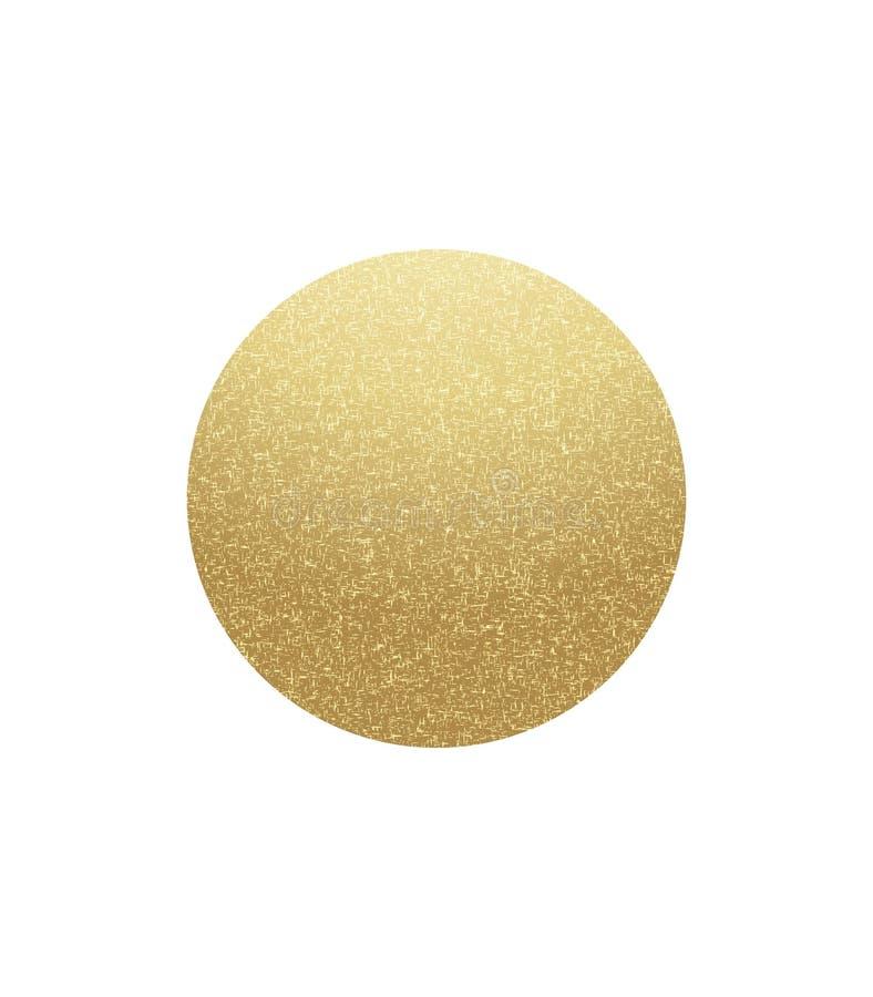 Guld- spräcklig cirkel royaltyfri illustrationer