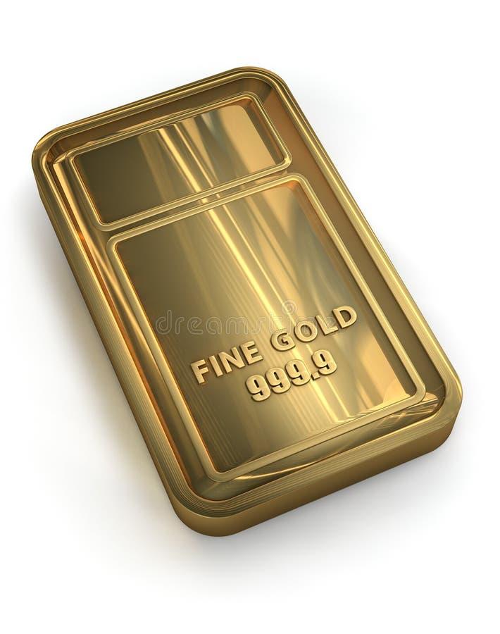Guld- stång royaltyfri illustrationer