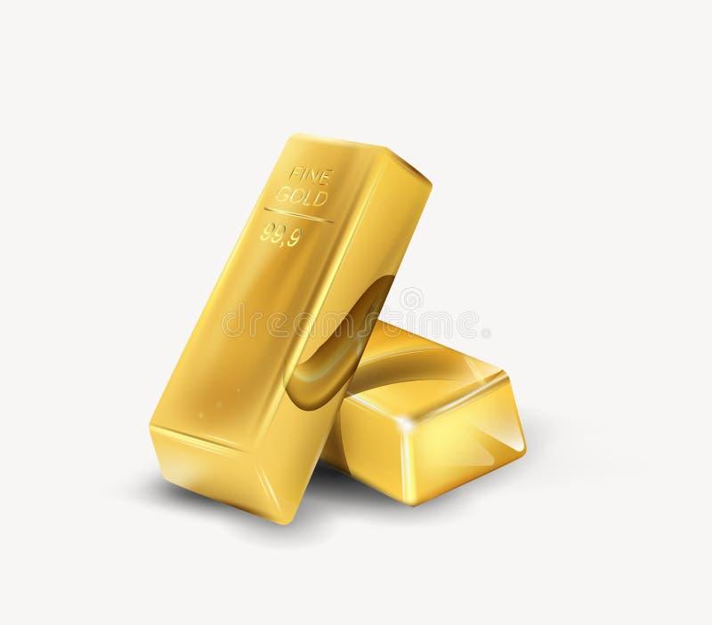 Guld- stång vektor illustrationer