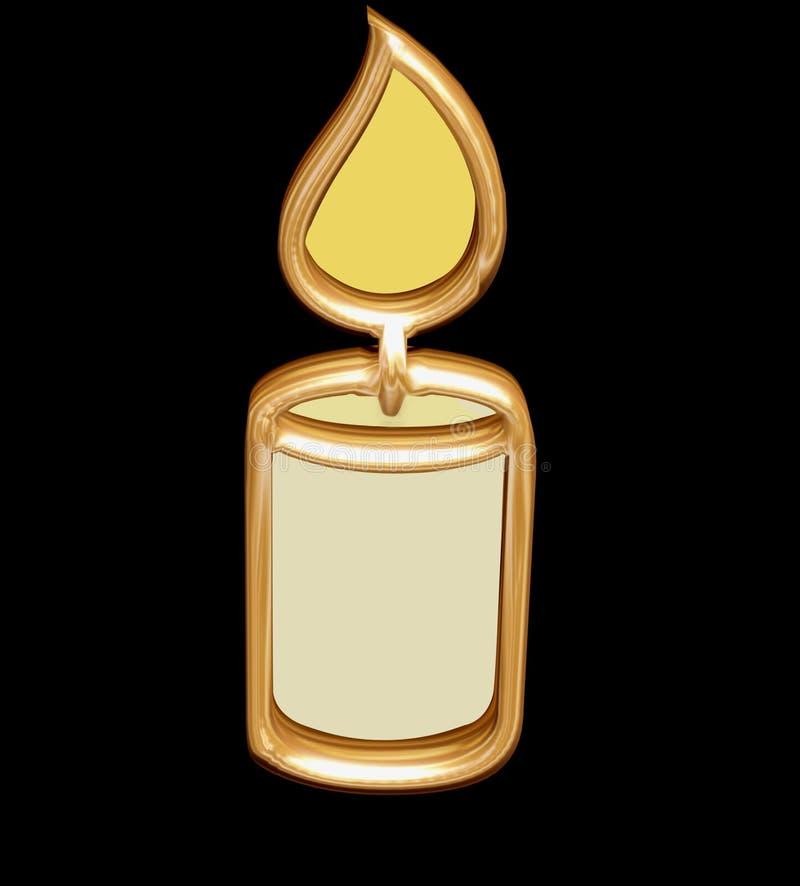 guld- stearinljus royaltyfri illustrationer