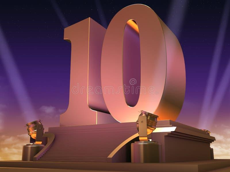 guld- stil för 10 film stock illustrationer