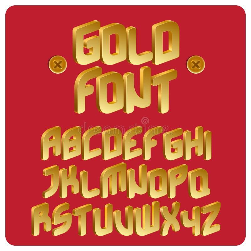 Guld- stilsort royaltyfri illustrationer