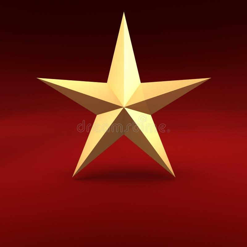 guld- stjärna vektor illustrationer