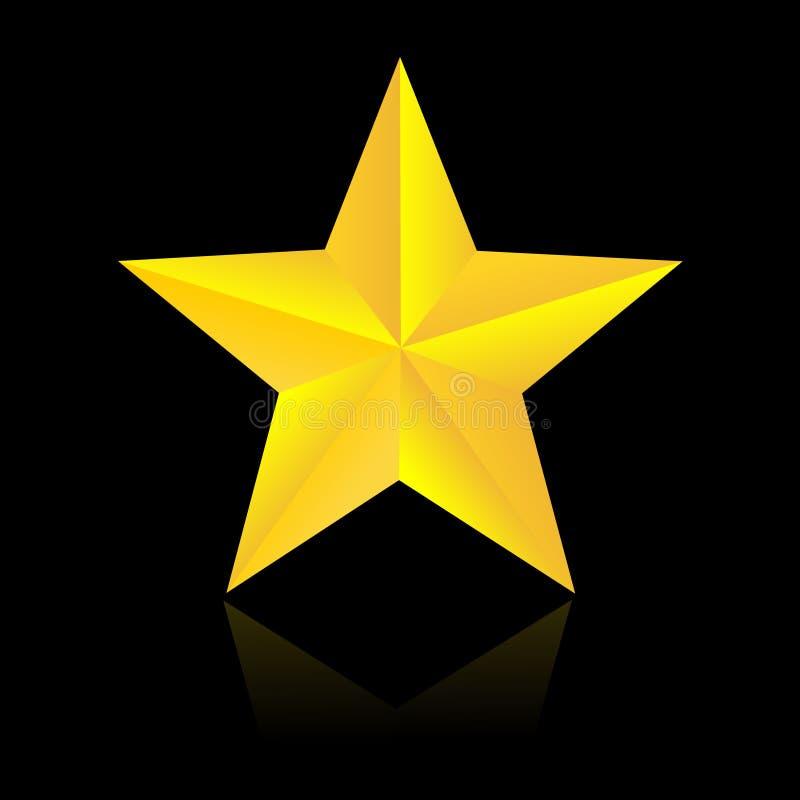 Guld- stjärna royaltyfri illustrationer