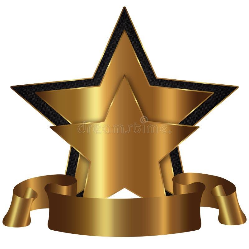 guld- stjärna för samling vektor illustrationer