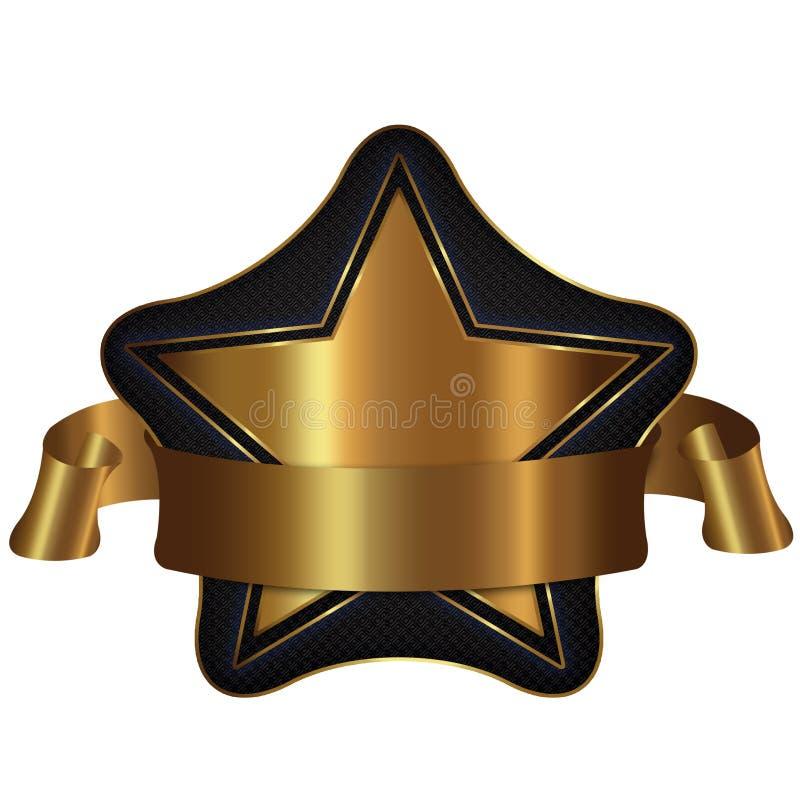 guld- stjärna för samling stock illustrationer