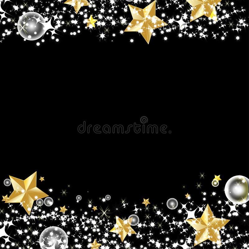Guld- stjärna med bakgrund för ljus effekt stock illustrationer