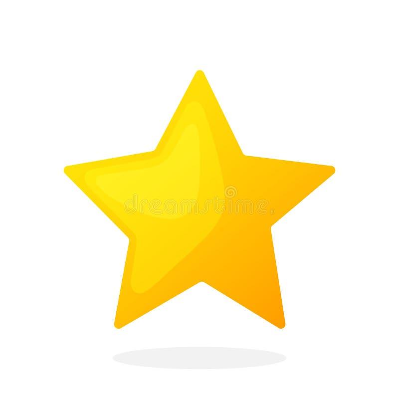 Guld- stjärna utan kontur vektor illustrationer