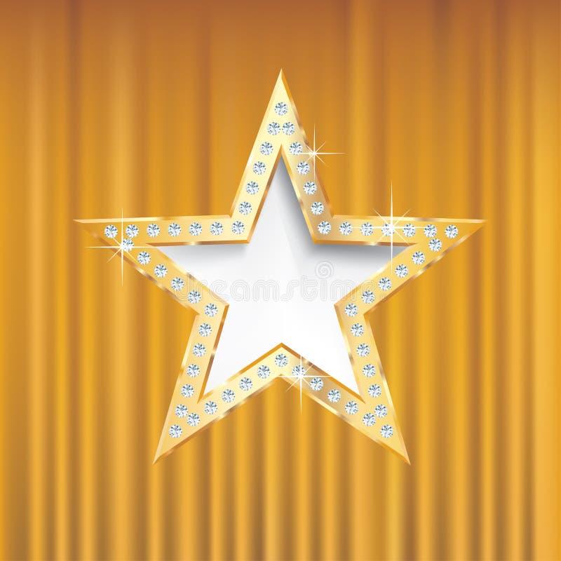 Guld- stjärnaguld stock illustrationer