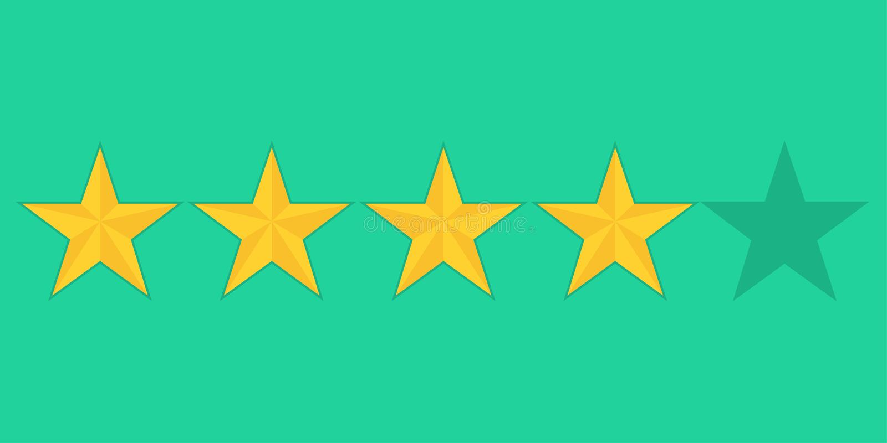 Guld- stjärnaservisevärdering som missa några punkter royaltyfri illustrationer