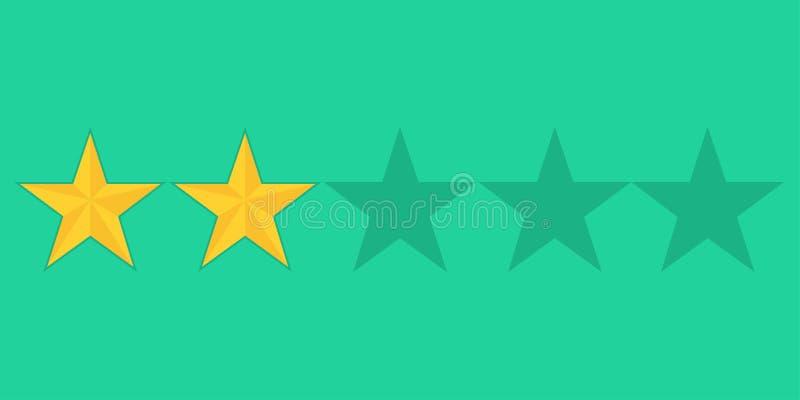 Guld- stjärnaservisevärdering som missa några punkter stock illustrationer