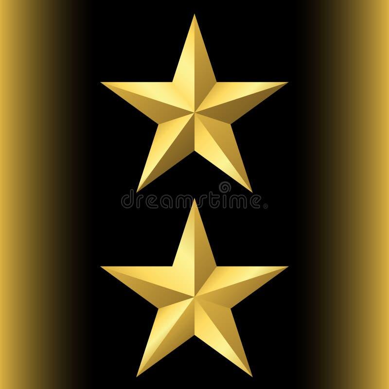 guld- stjärnasymbol stock illustrationer