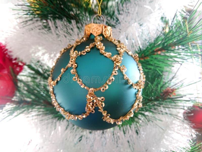 guld- stjärnatree för jul arkivfoton