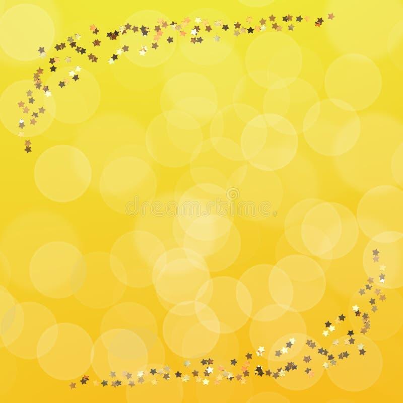 guld- stjärnawallpaper royaltyfri illustrationer
