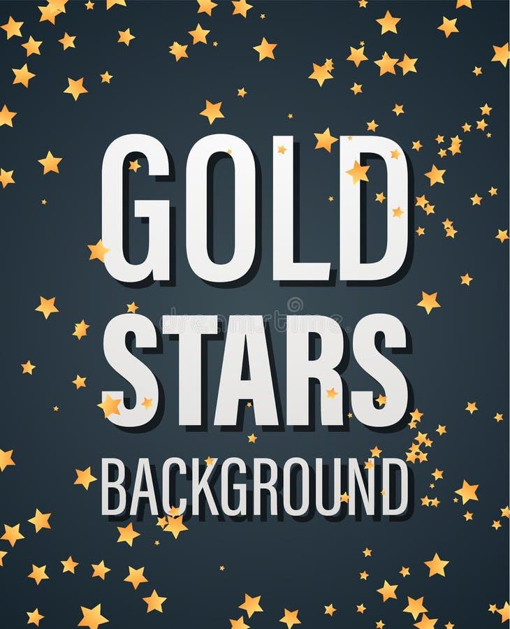 Guld- stjärnor Bakground stock illustrationer