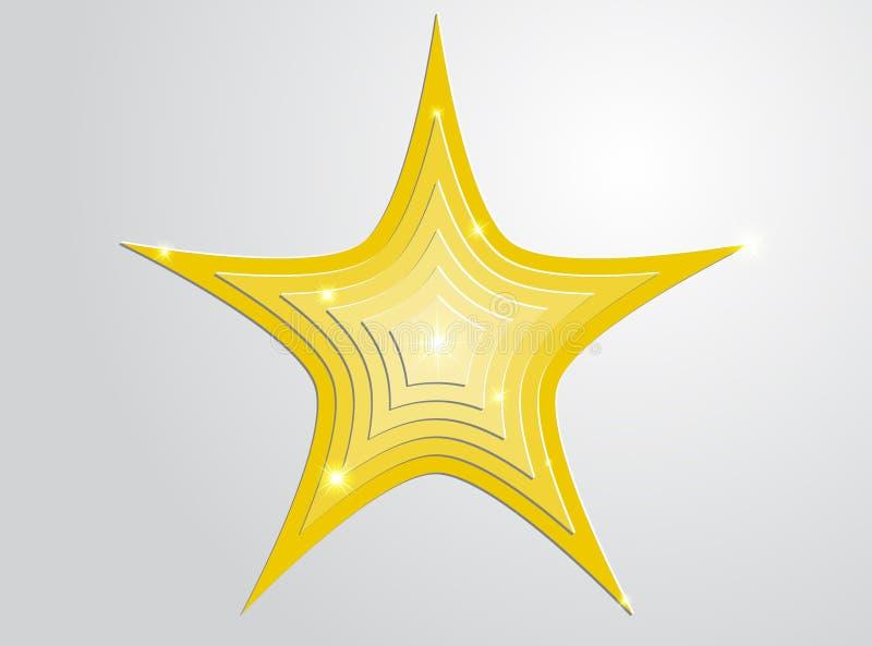 Guld- stjärnor i stjärnor royaltyfri foto