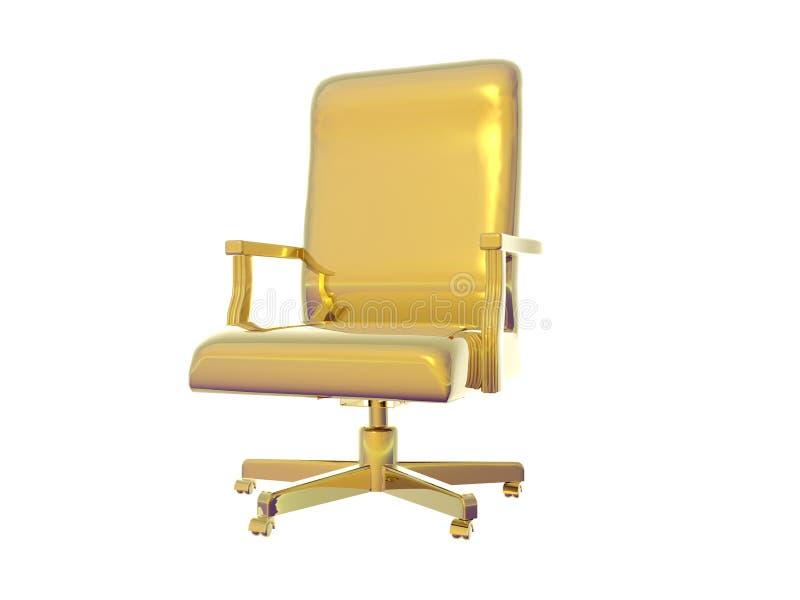 guld- stol stock illustrationer