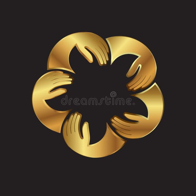 Guld- storgubbefolkbild Begrepp av elit royaltyfri illustrationer