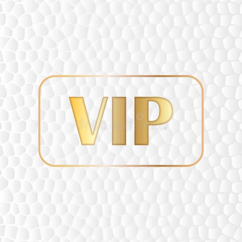 Guld- storgubbetext på en stiliserad vit hudbakgrund Guld- symbol av exclusivity vektor illustrationer