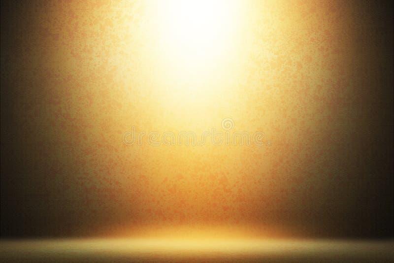 Guld- strålkastareetappbakgrund stock illustrationer