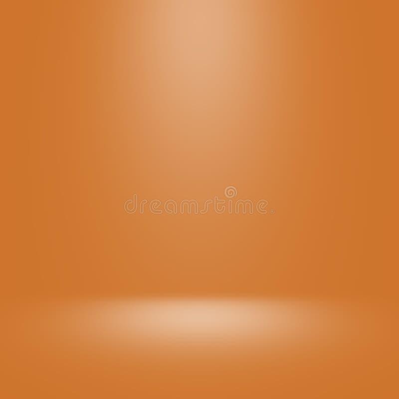 Guld- studiobakgrund med strålkastaren fotografering för bildbyråer