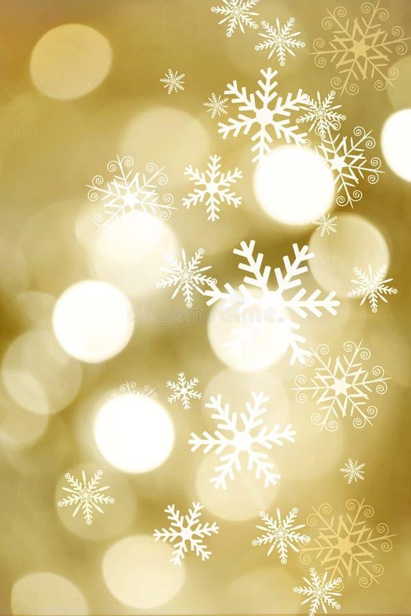 Guld- suddig bokeh tänder för beröm för jul och för nytt år royaltyfri foto