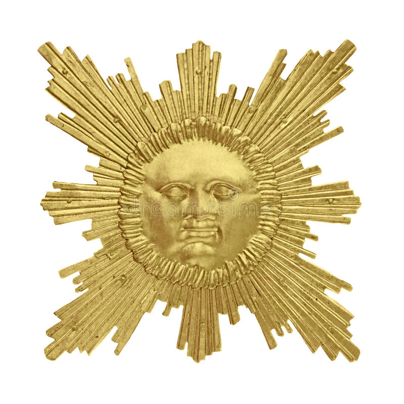 Guld- sun royaltyfria foton