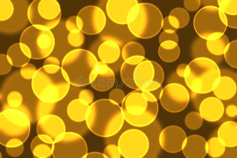 Guld-svart bokeh arkivbild