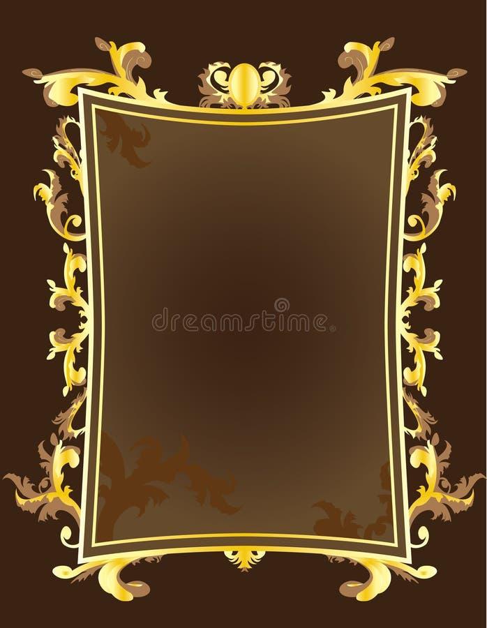 guld- tappning för ram royaltyfri illustrationer