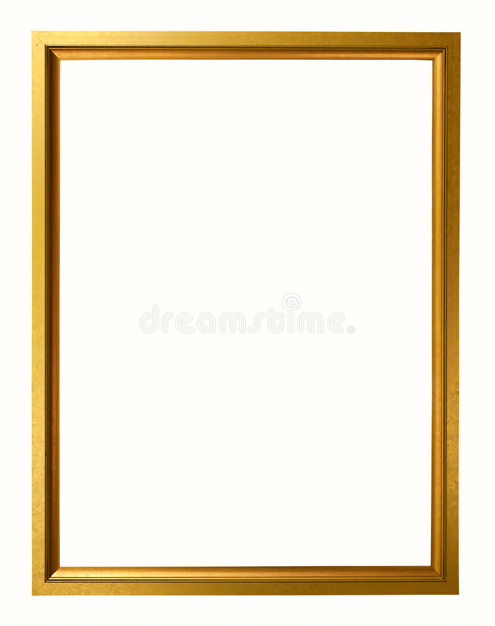 Guld- tappningram på vit bakgrund royaltyfri foto