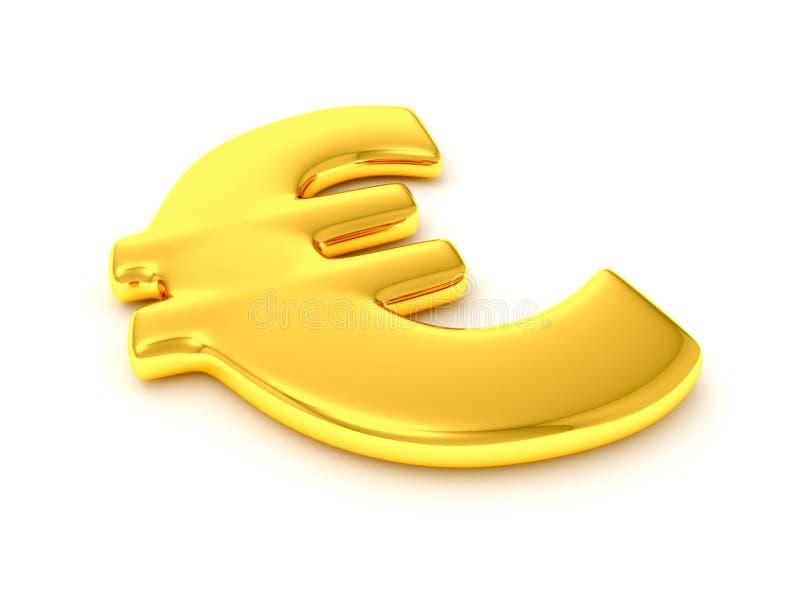 guld- tecken för euro royaltyfri illustrationer
