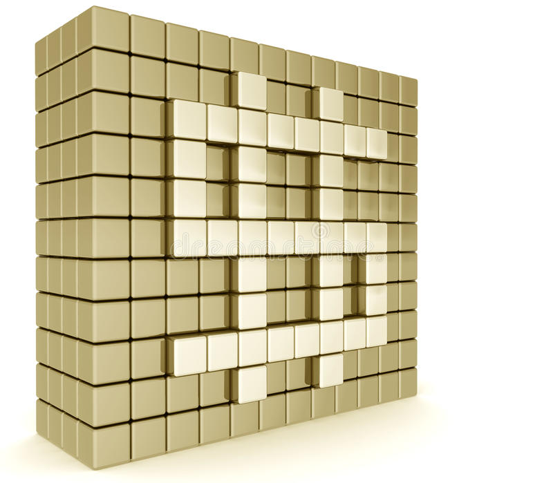 guld- teckenvägg för dollar stock illustrationer