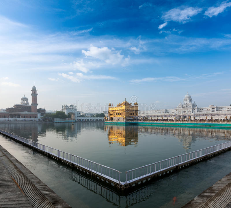 Guld- tempel, Amritsar arkivbilder
