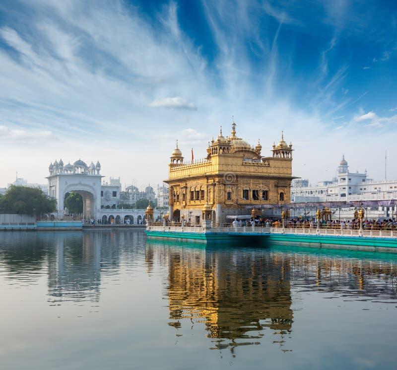 Guld- tempel, Amritsar arkivbild