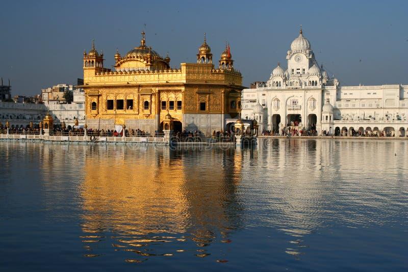 Guld- tempel, Amritsar, Indien fotografering för bildbyråer