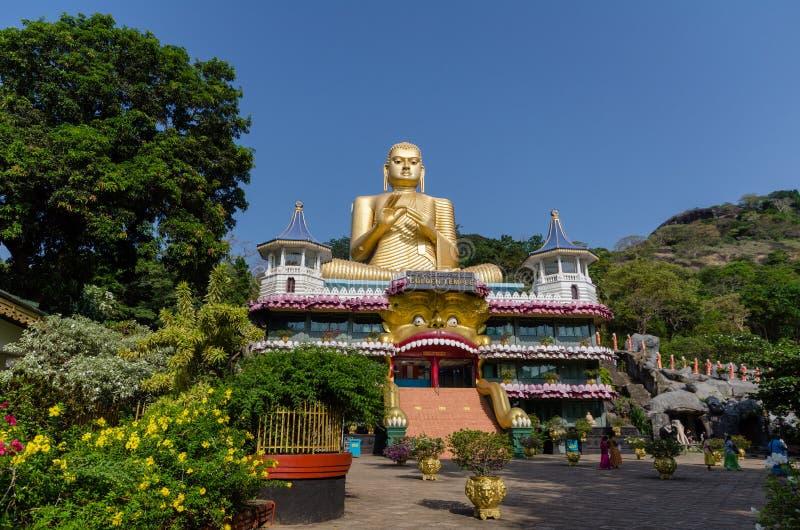 Guld- tempel av Dambulla, Sri Lanka arkivbild
