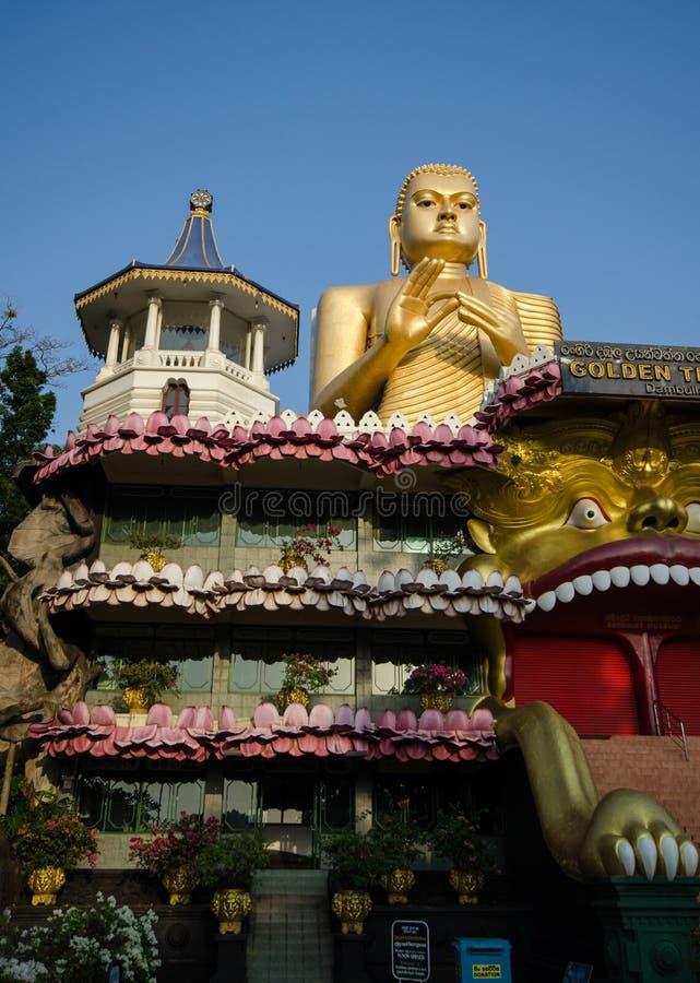 Guld- tempel av Dambulla, Sri Lanka, Asien royaltyfria bilder