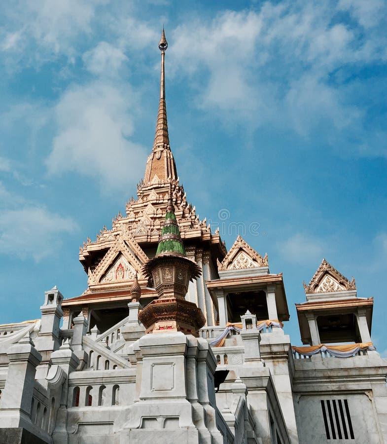Guld- tempel Bangkok arkivfoton