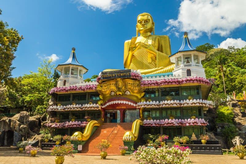Guld- tempel Dambulla royaltyfri bild