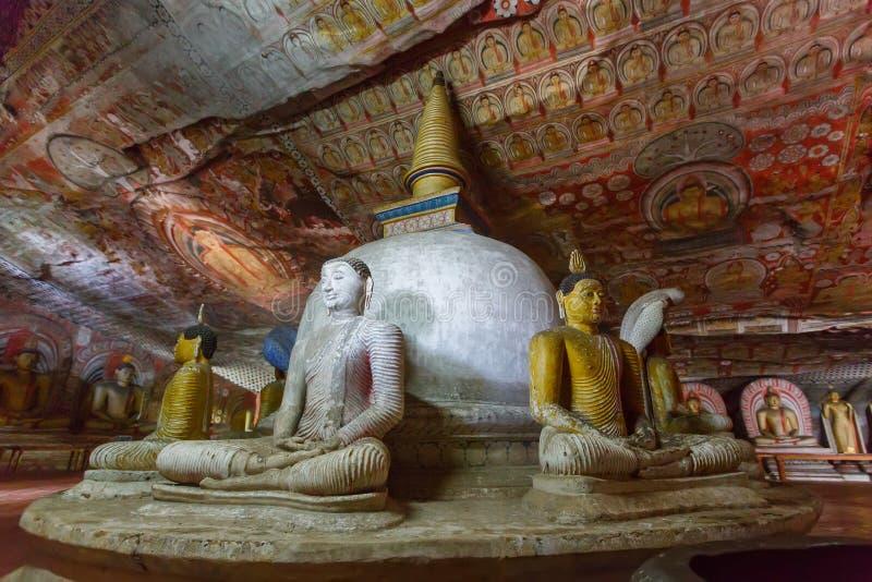 Guld- tempel, Dambulla, Sri Lanka royaltyfri bild