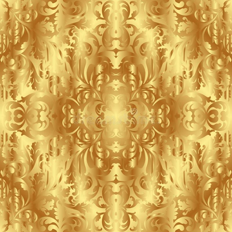 Guld- texturera stock illustrationer