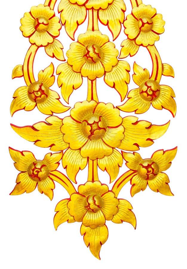 Guld- Thailand blomma arkivfoto
